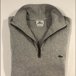 Lacoste zippered stand up collar jersey sweater